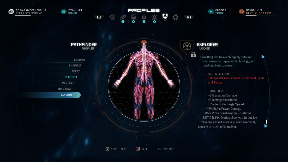 "This article will help provide some guidance on putting together an Explorer profile in ""Mass Effect Andromeda."""