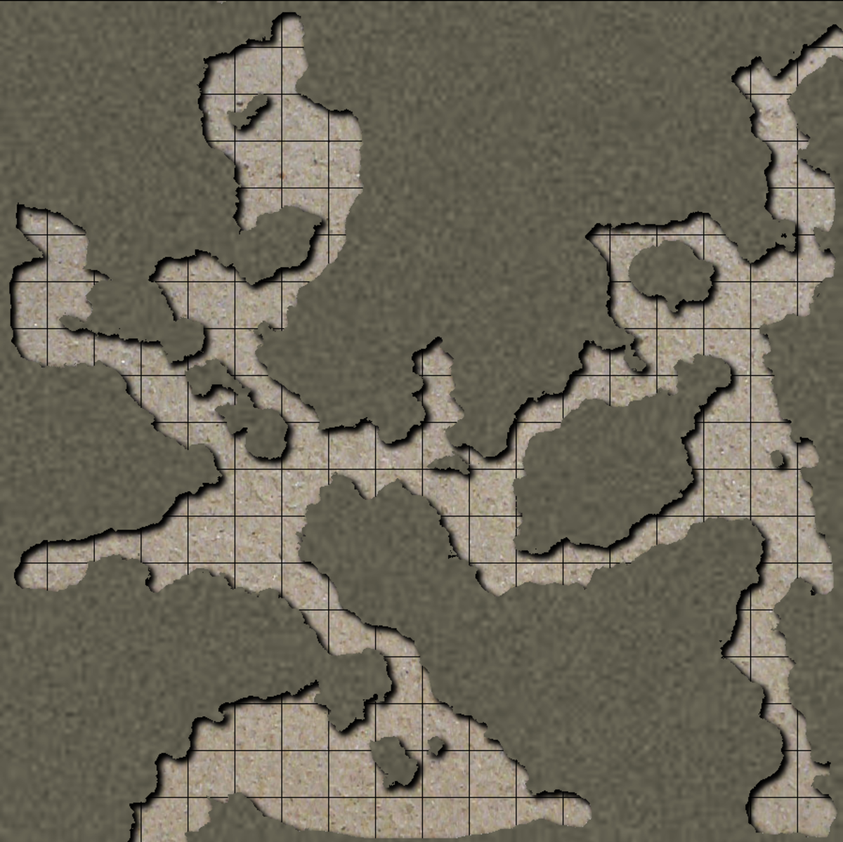 Unpopulated caverns