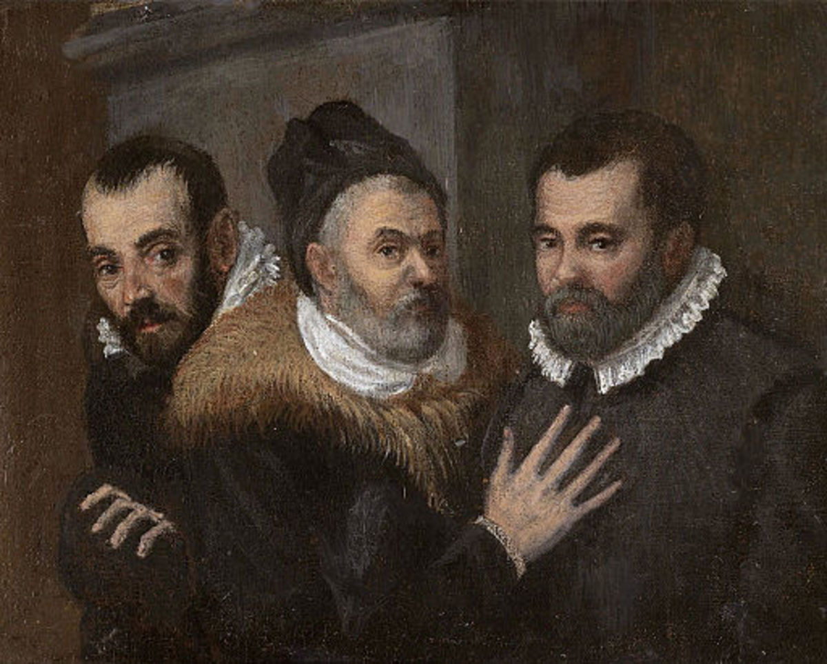 Anonymous portrait of Annibale, Ludovico and Agostino Carracci