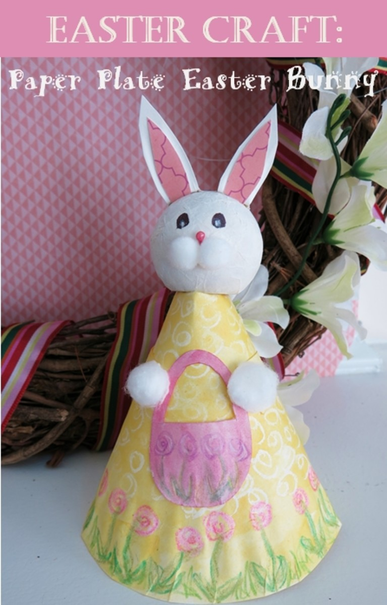 How to Make a Paper Plate Easter Bunny Figure : paper plate easter bunny - Pezcame.Com