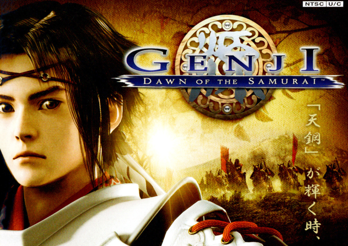 Cover design for Genji: Dawn of the Samurai, one of the most famous retro PlayStation games set in Japan.