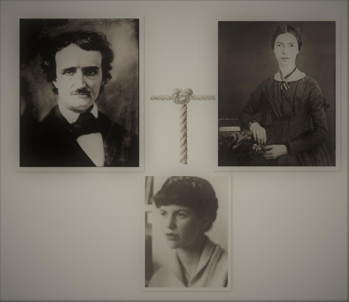Edgar Allan Poe, Emily Dickinson, and Sylvia Plath