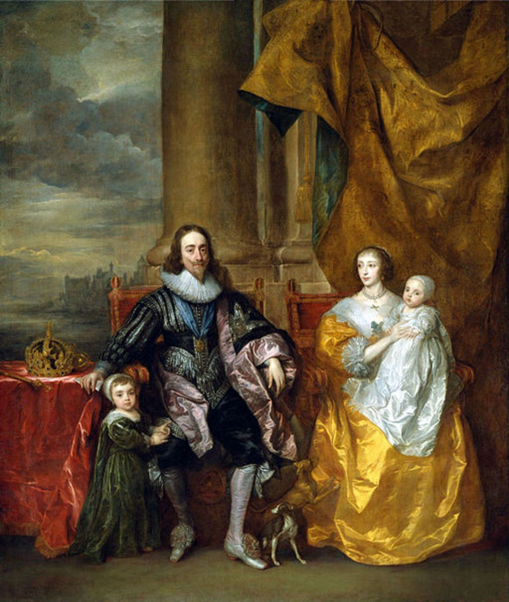 King Charles I, Henrietta Maria and their two eldest children