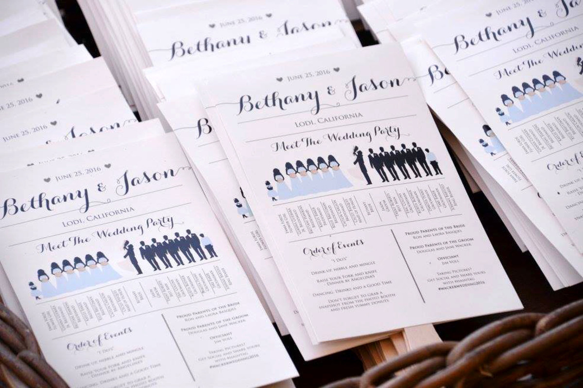 How to Create Your Own Wedding-Program Fans