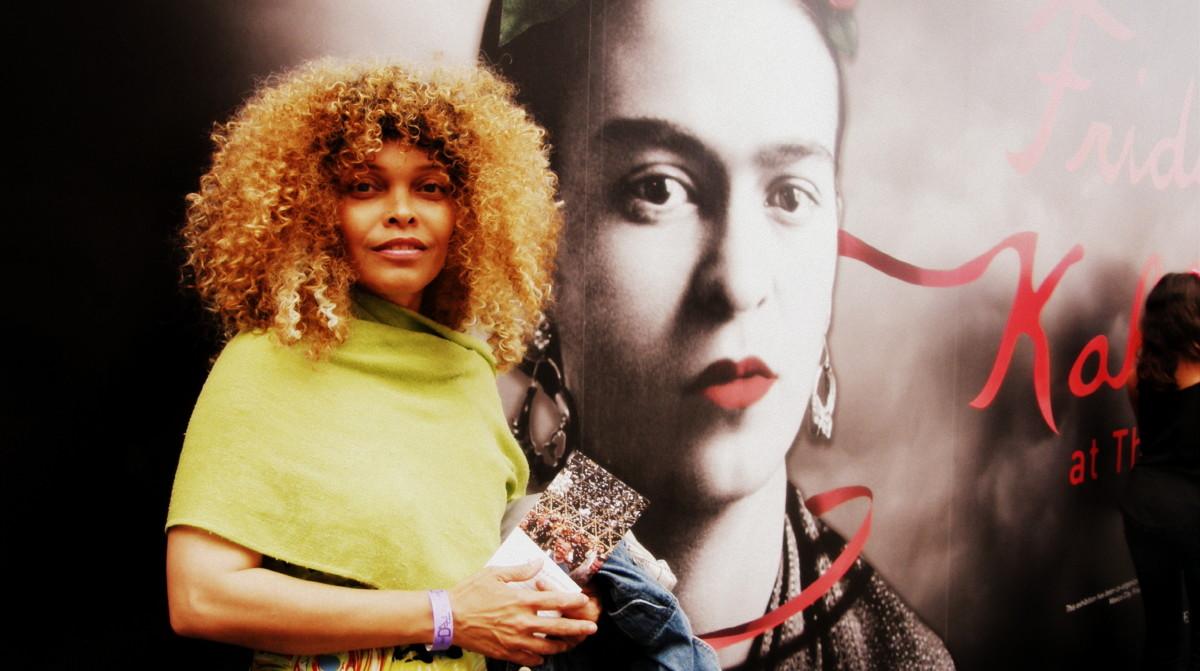 At the Frida Kahlo exhibit, Dali Museum, St. Petersburg, Florida, April 2017