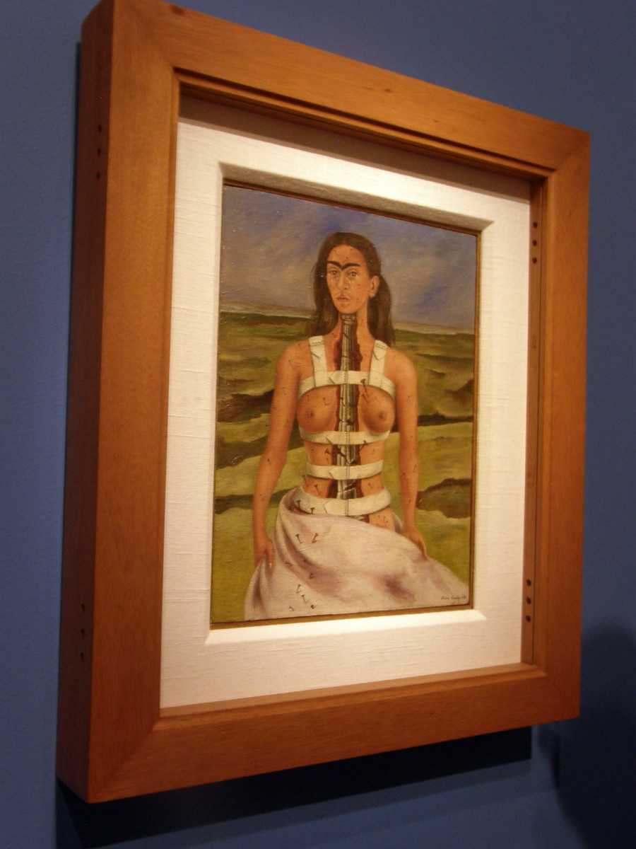 Broken Column, by Frida Kahlo, at the Frida Kahlo exhibit, Dali Museum, St. Petersburg, Florida, April 2017