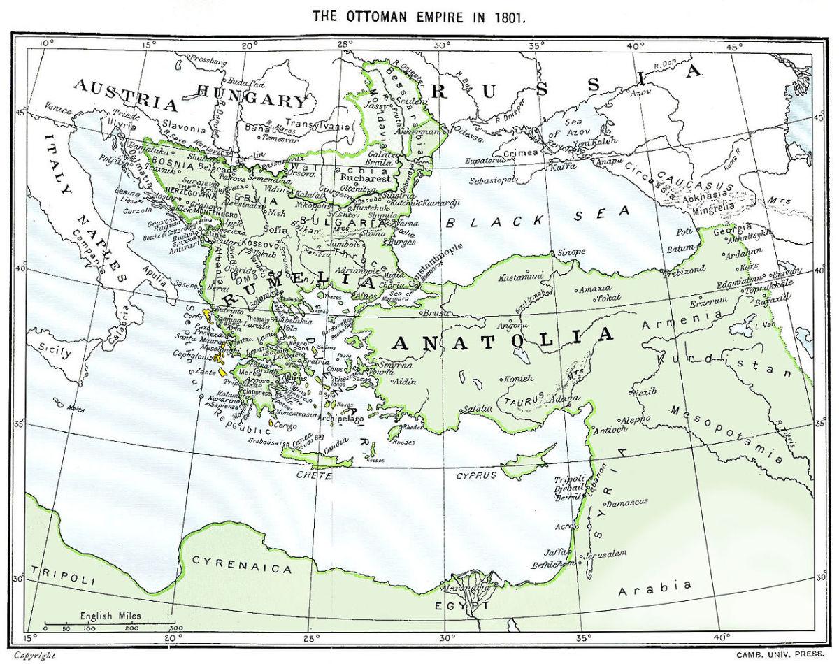 The Ottoman Empire in 1801