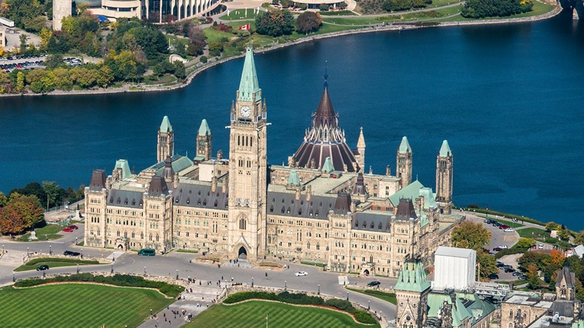 Parliament Hill in the nation's capital, Ottawa, Ontario.