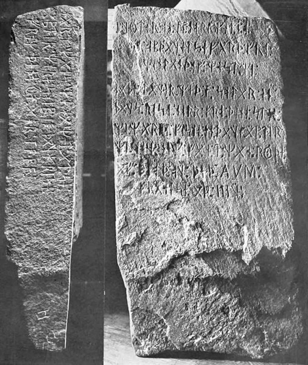 The Kensington Runestone photographed in 1910