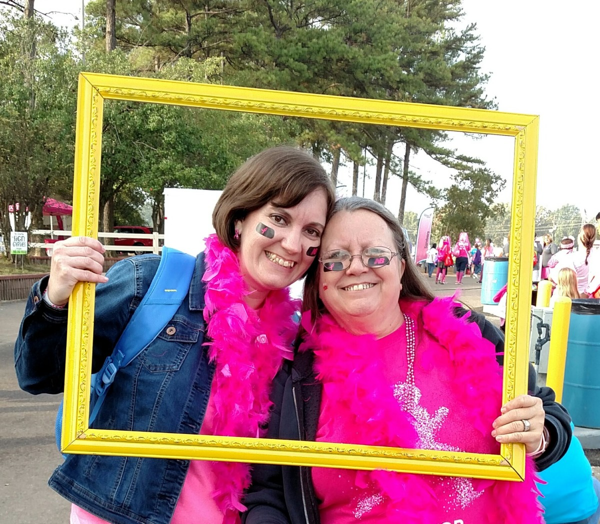 Mom and me at the Susan G. Komen Race for the Cure last October.