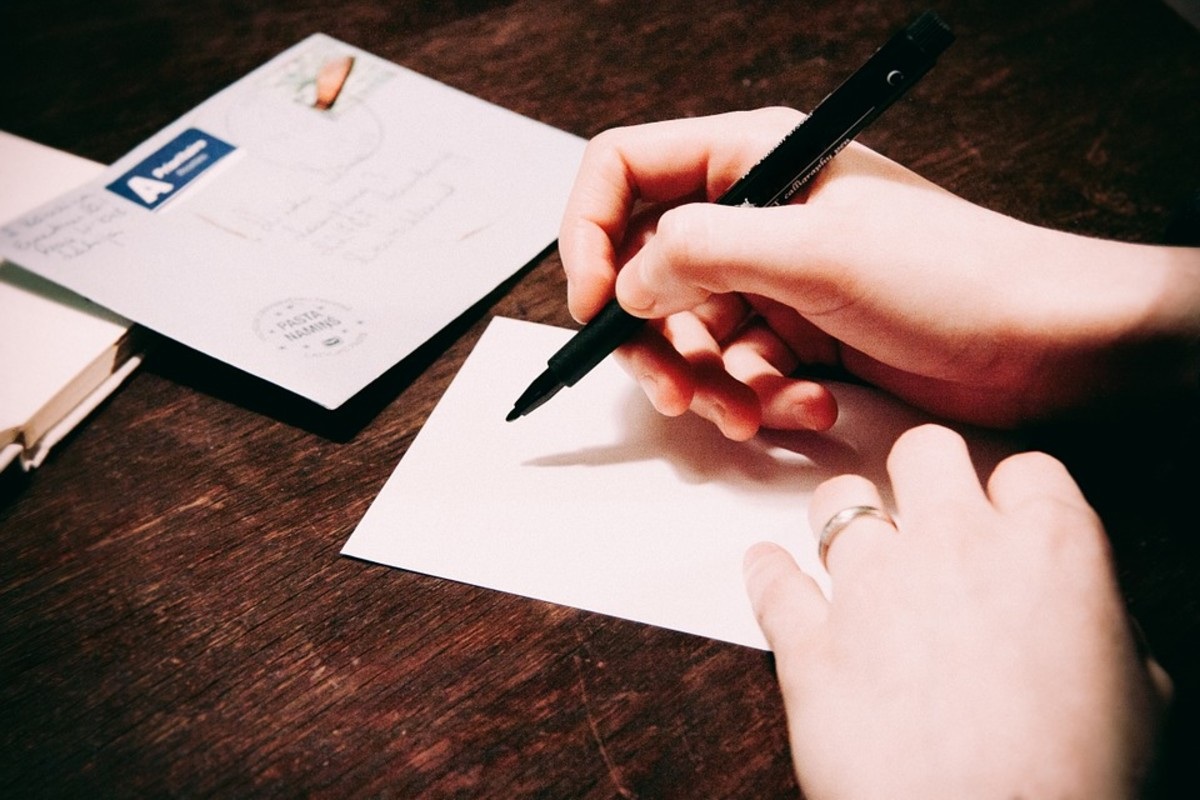 Handwritten letters add a personal touch.