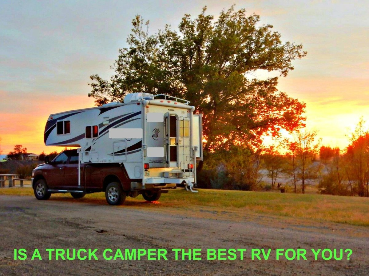 Learn about the pros and cons of buying a slide-in camper..
