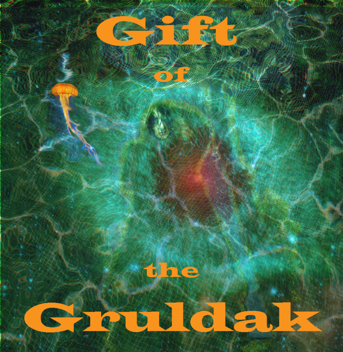 An image from Kevin Capricorn Wang IV's birthplace, the novel, Gift of the Gruldak.