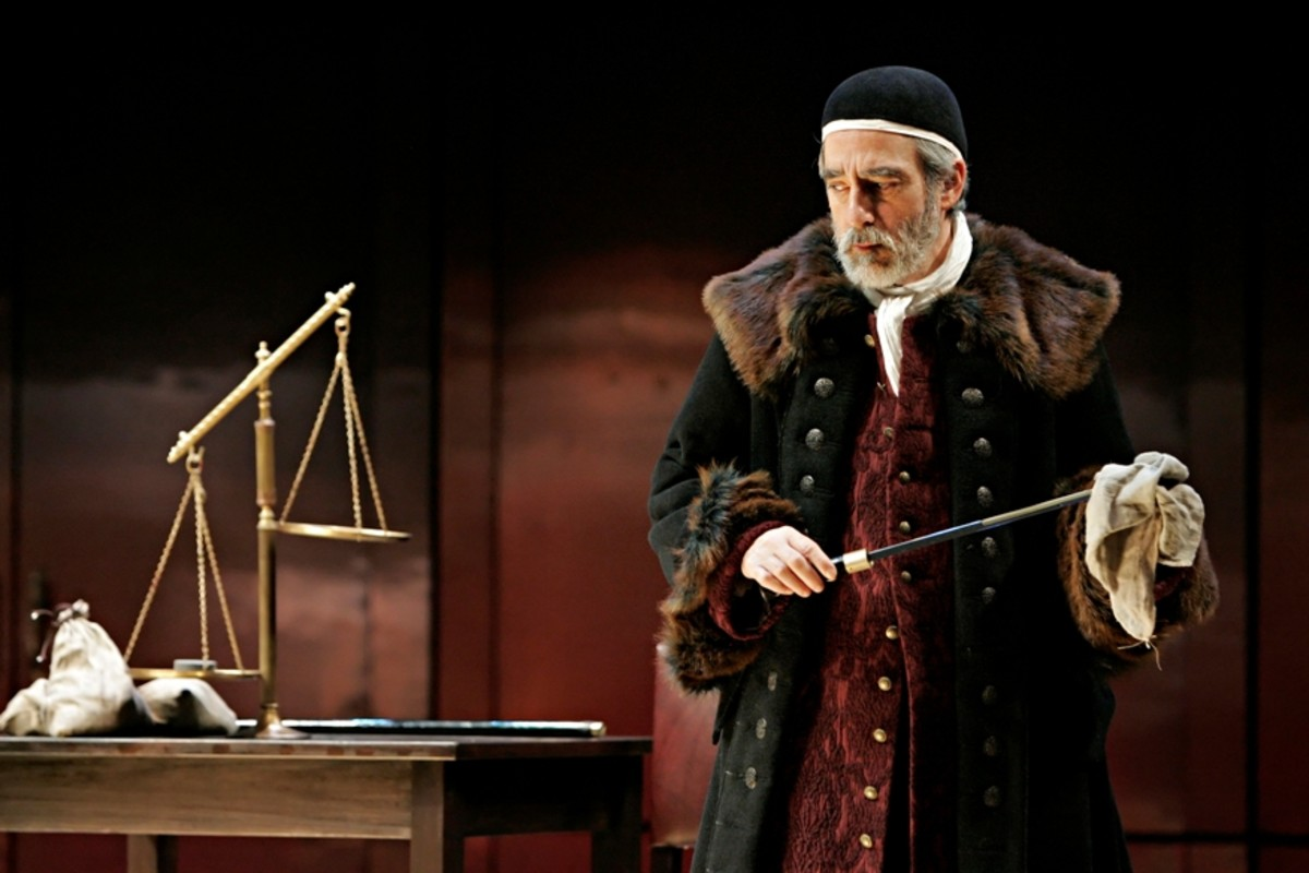 Shylock and his scale from The Merchant of Venice