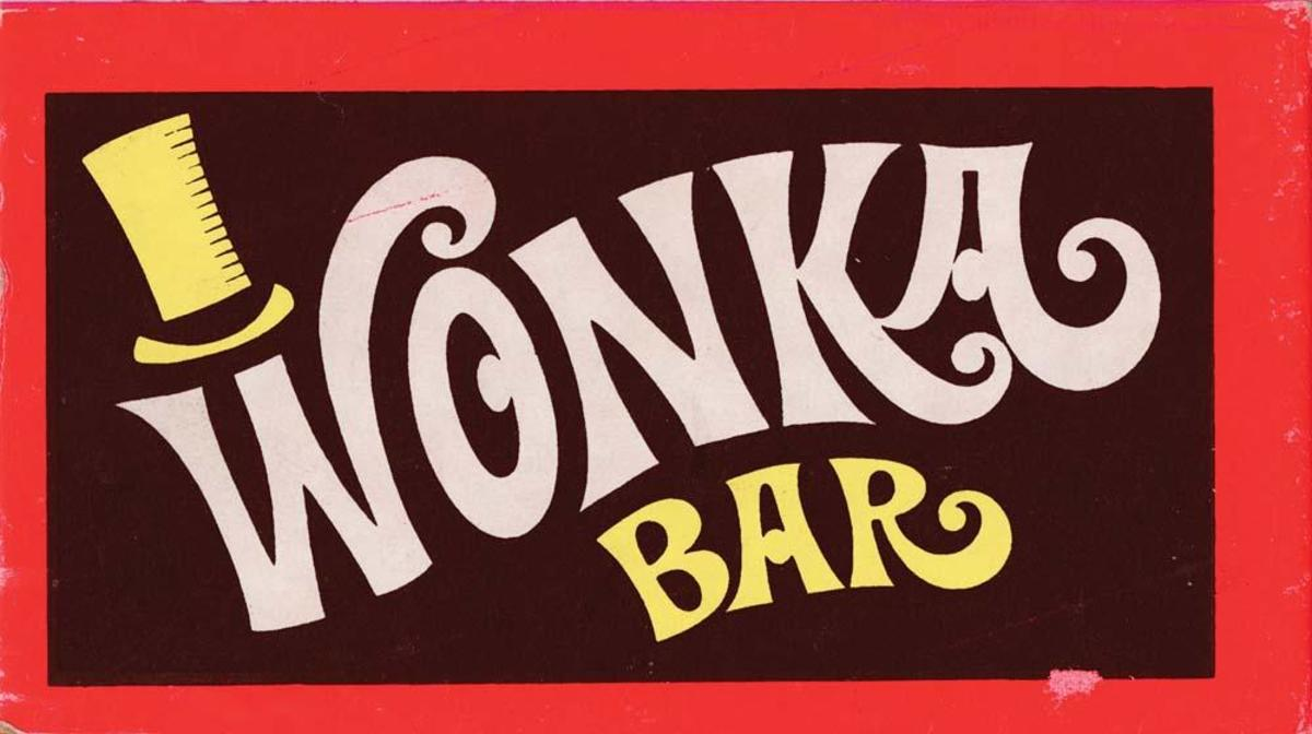 The original Wonka Bar wrapper from the film