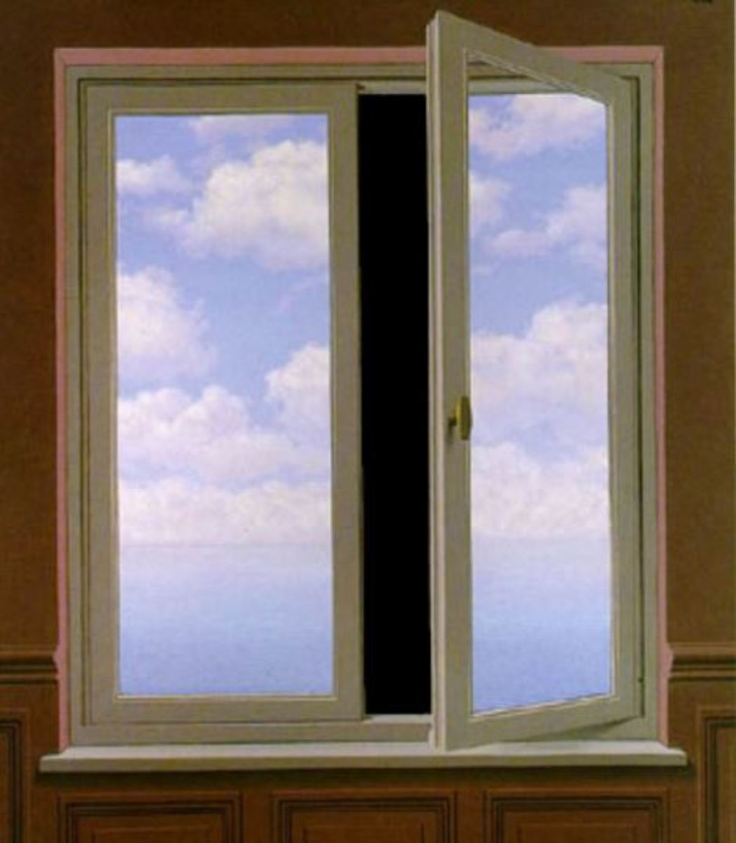 The Telescope, by Rene Magritte (1898-1967)