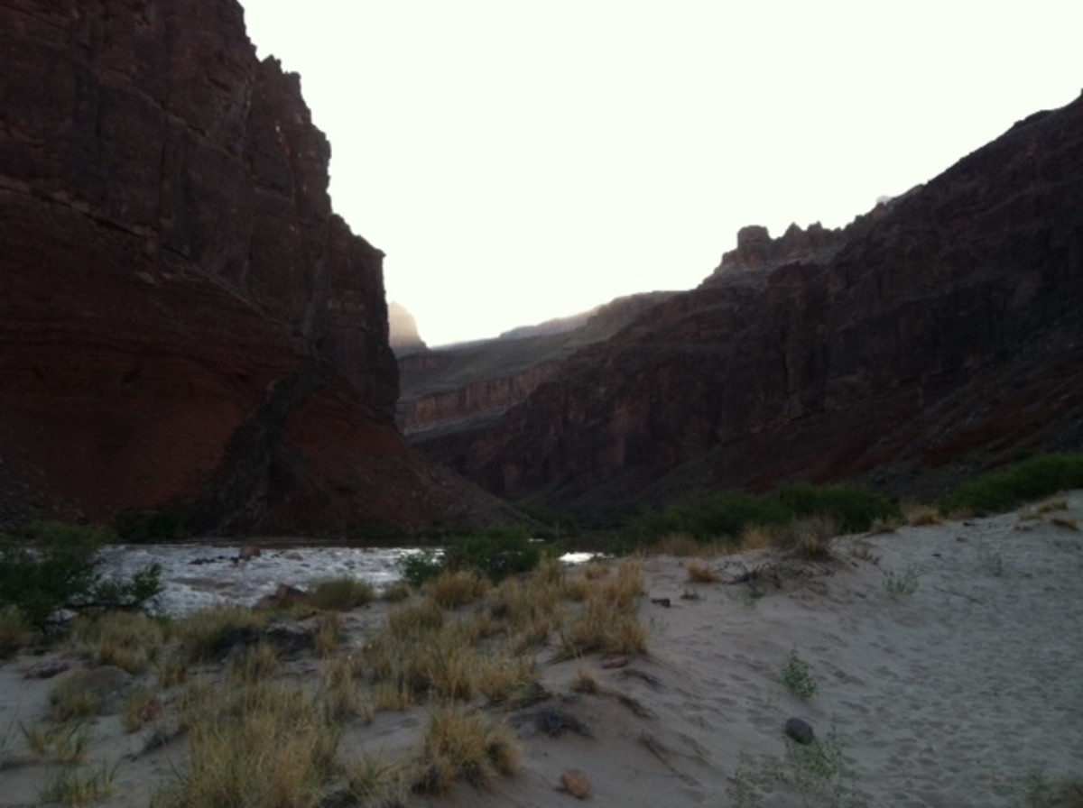 This is at the very bottom of the Grand Canyon, taken after a hike that left me near to tired to take the picture.