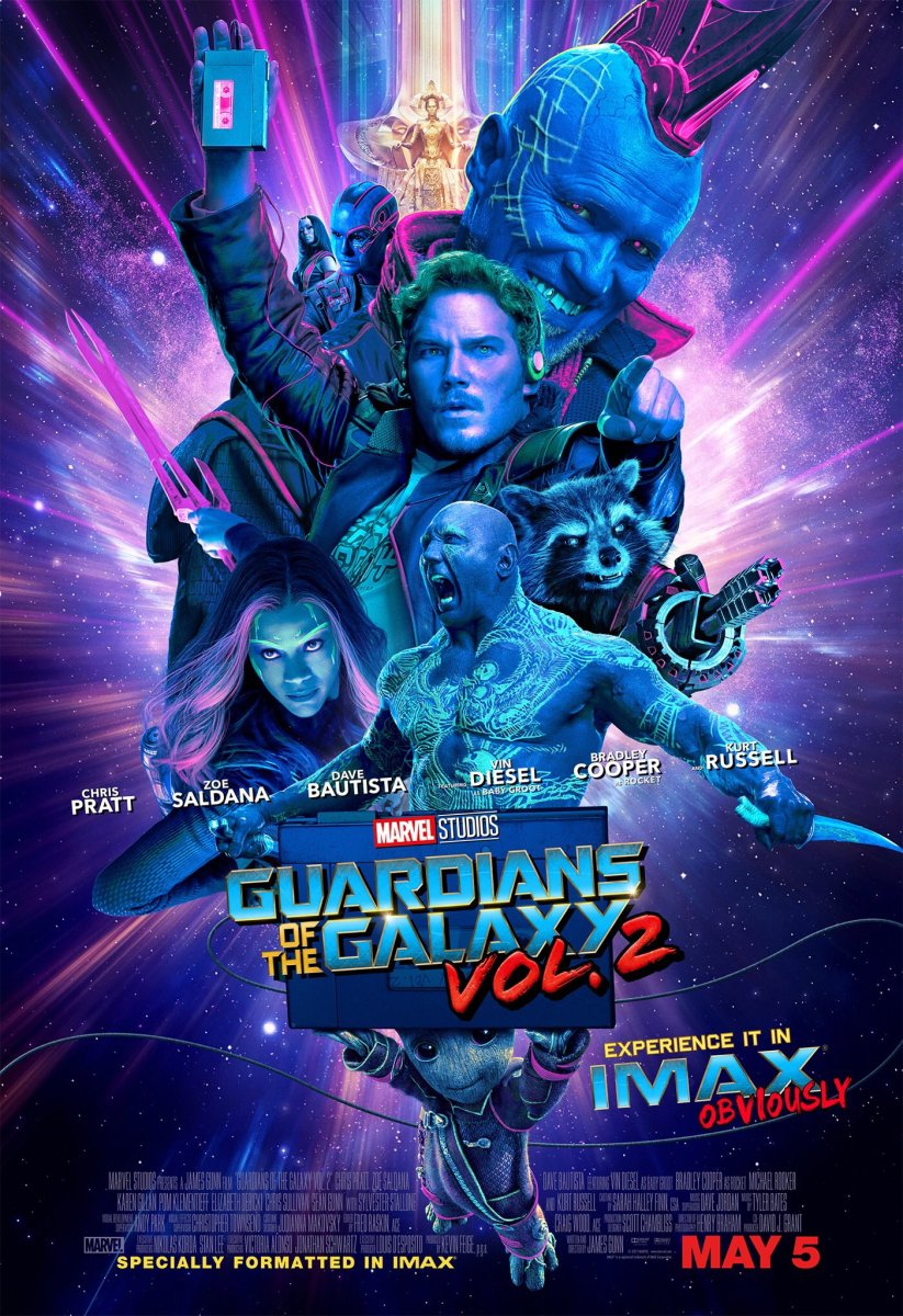 The official IMAX poster for Guardians of the Galaxy Vol. 2.