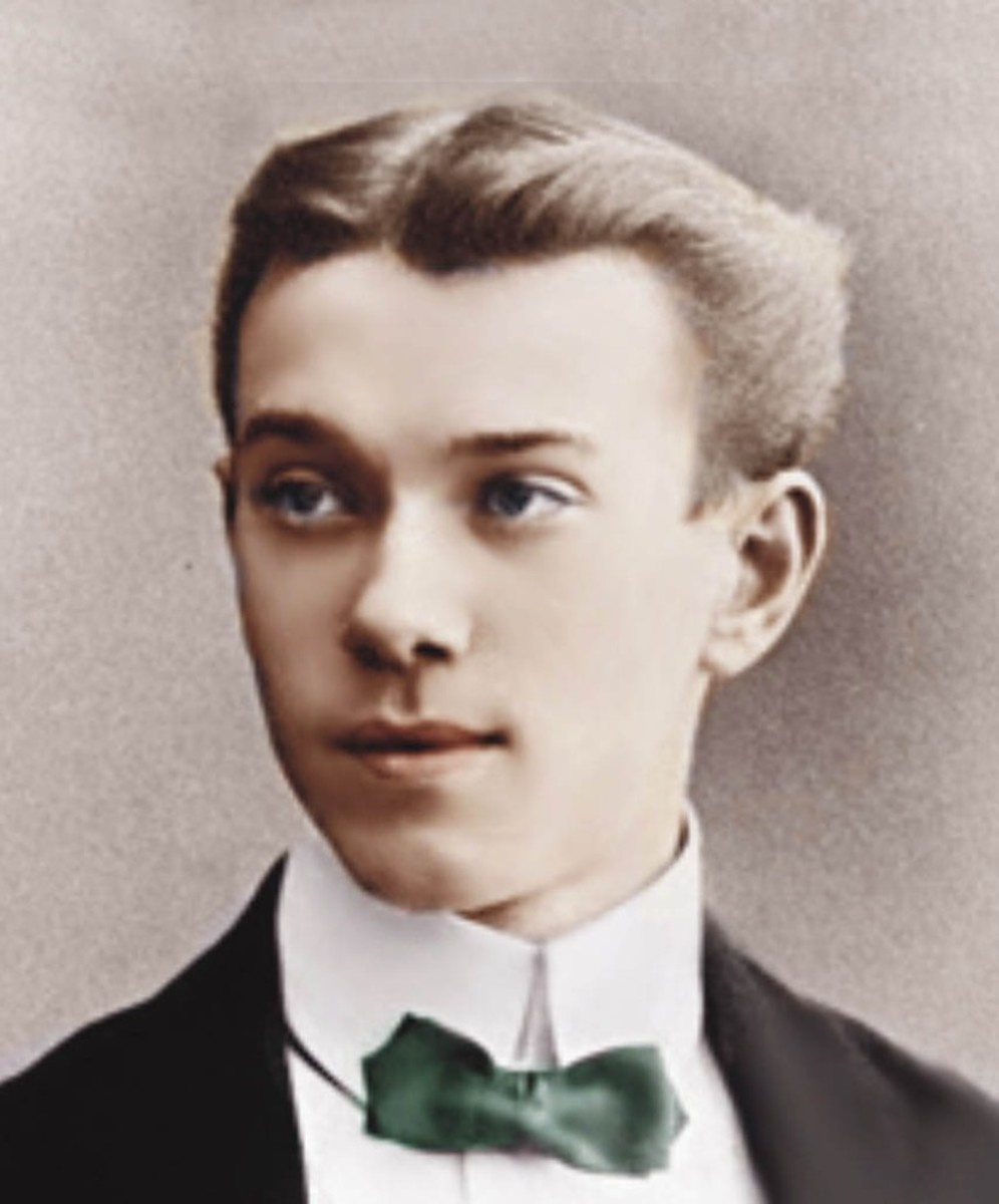 A young Nijinsky (1890-1950).