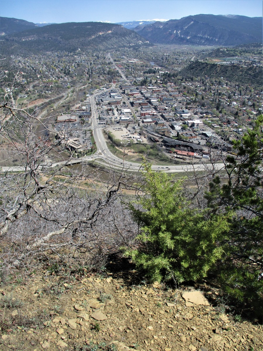 The town of Durango as viewed from the heights of Smelter Mountain