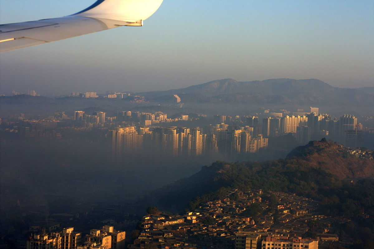Modern Mumbai in the Shadow of Mountains