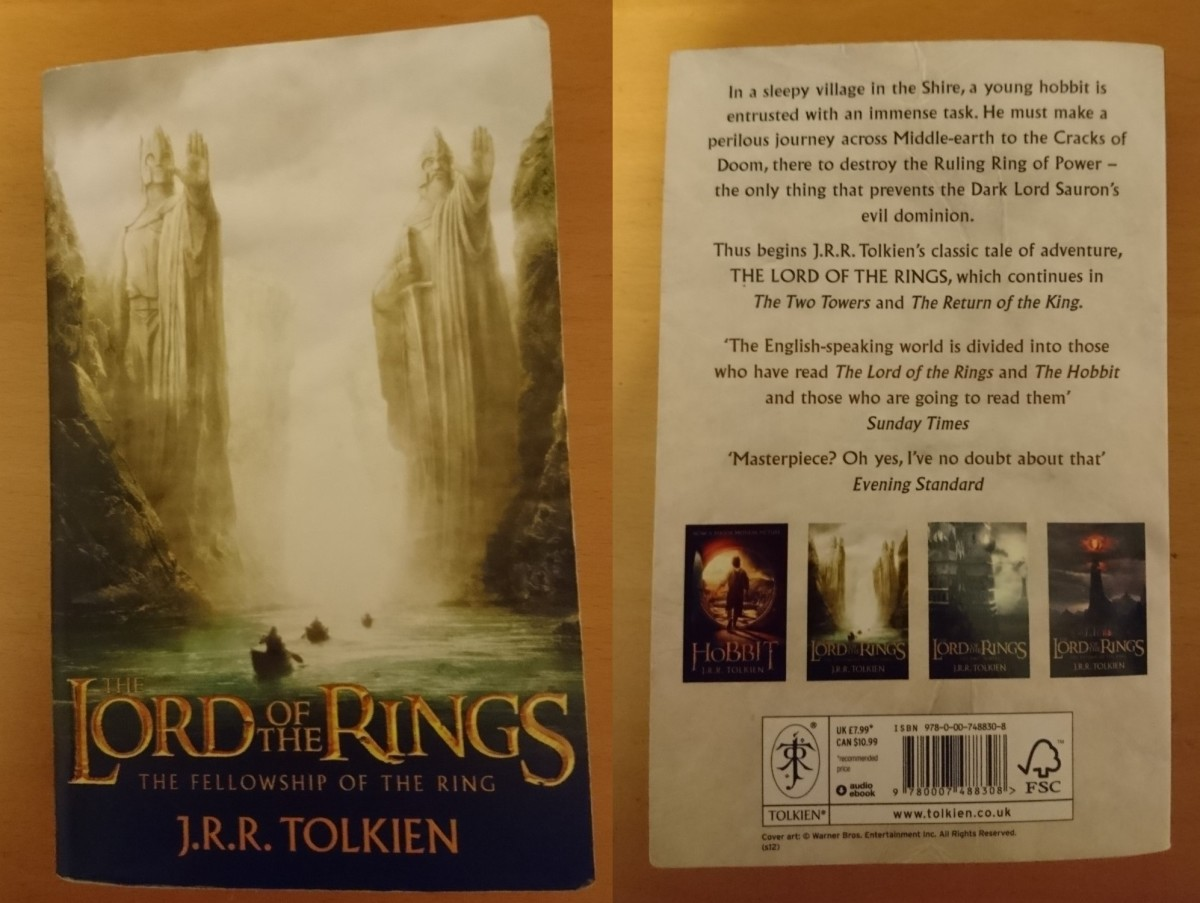 Front and Back Covers of The Fellowship of the Ring