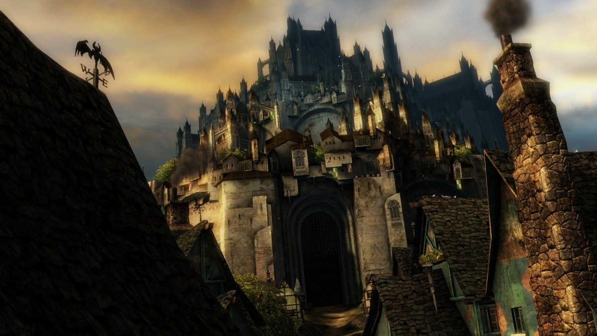 """A castle in """"GW2."""""""