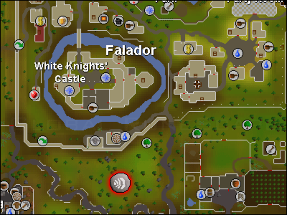 Map of Falador and its surroundings.