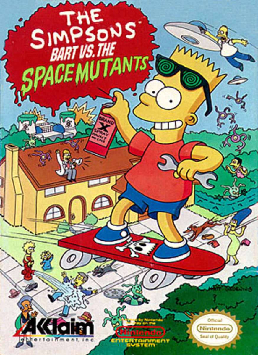 The First Simpsons Video Game for the Nintendo NES