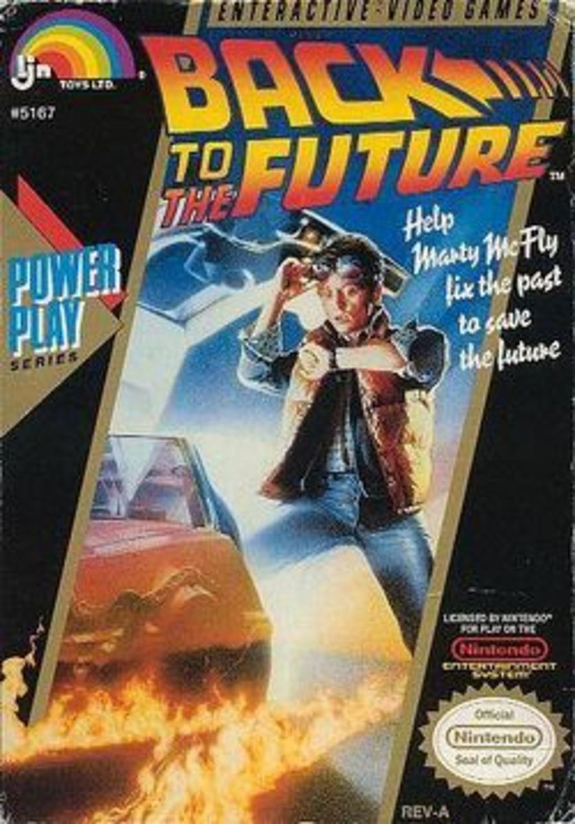 Back to the Future Nintendo Game Box Cover