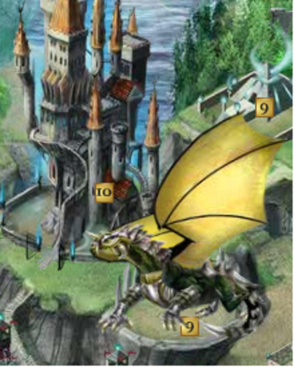 My Great Dragon in full armor flexing her wings.