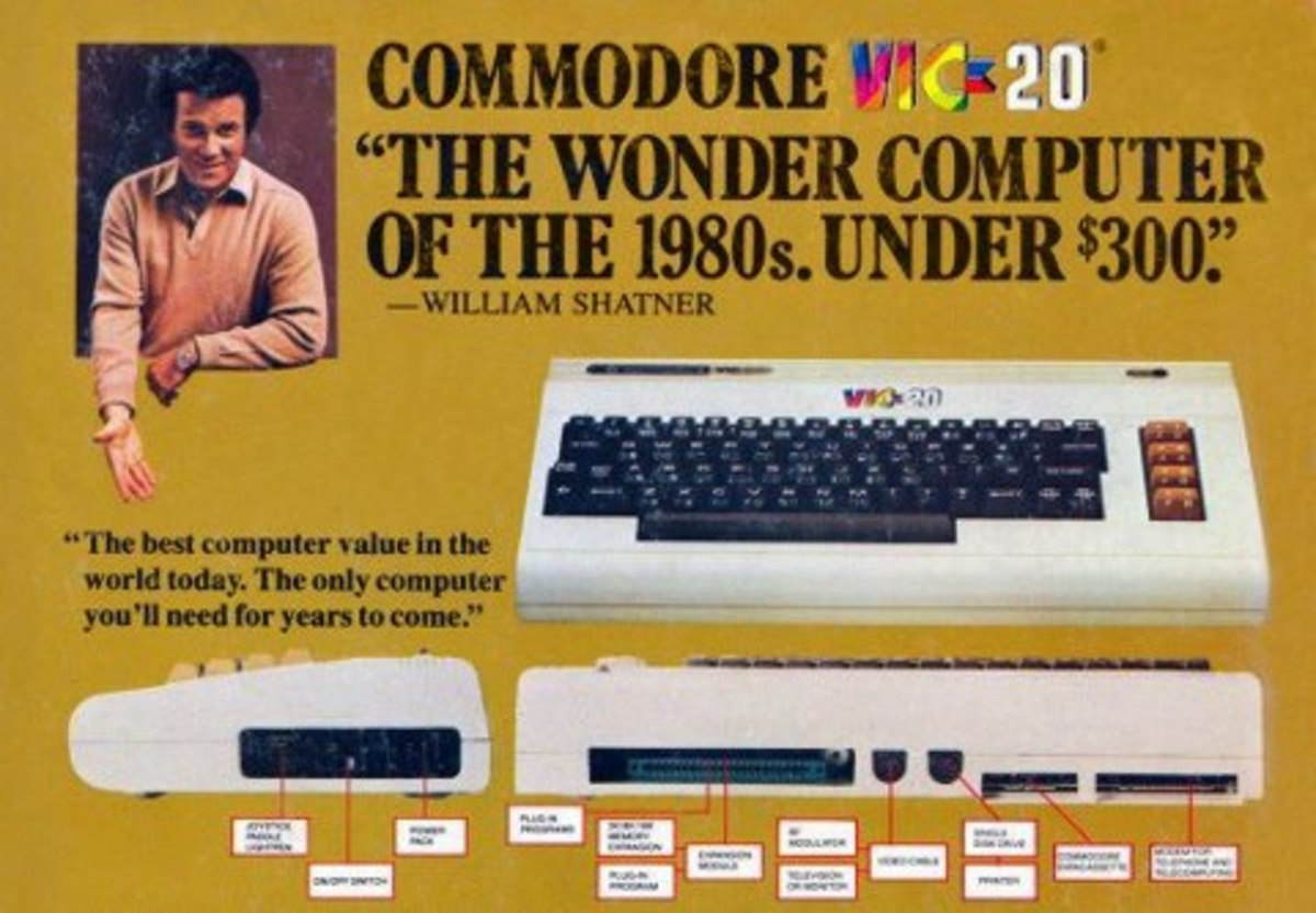 William Shatner loved the Vic 20 from Commodore