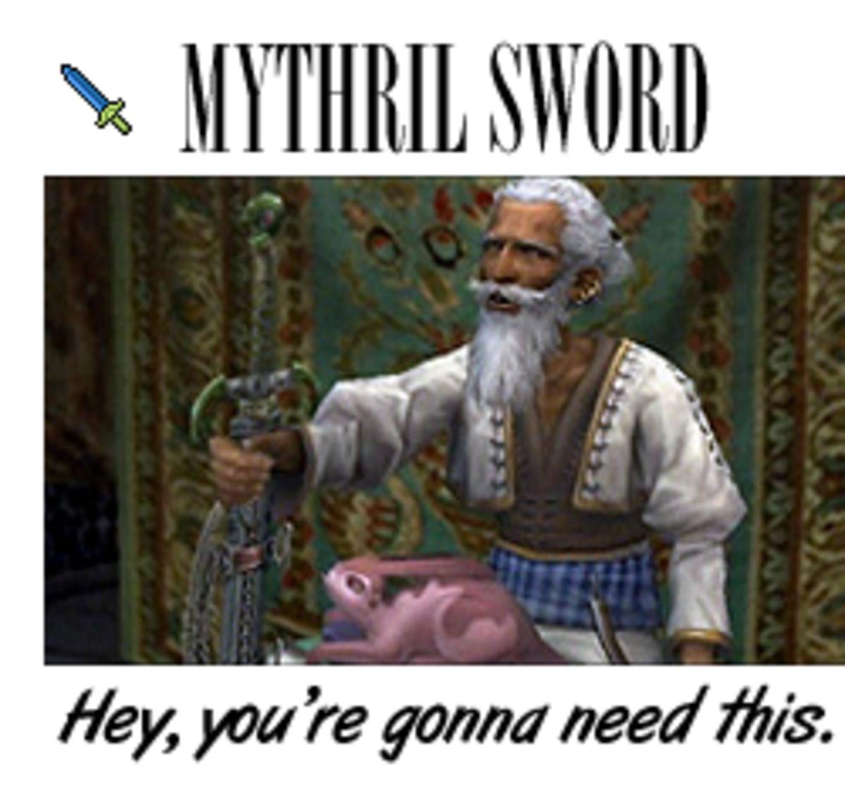 Final Fantasy Mythril Swords