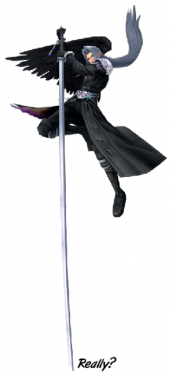 Sephiroth's Katana in Kingdom Hearts: Pole Vaulting Finals