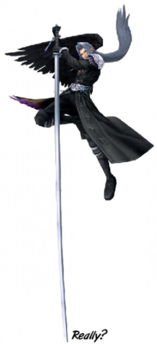 Sephiroth's Katana in Kingdom Hearts: Pole Vaulting Finals