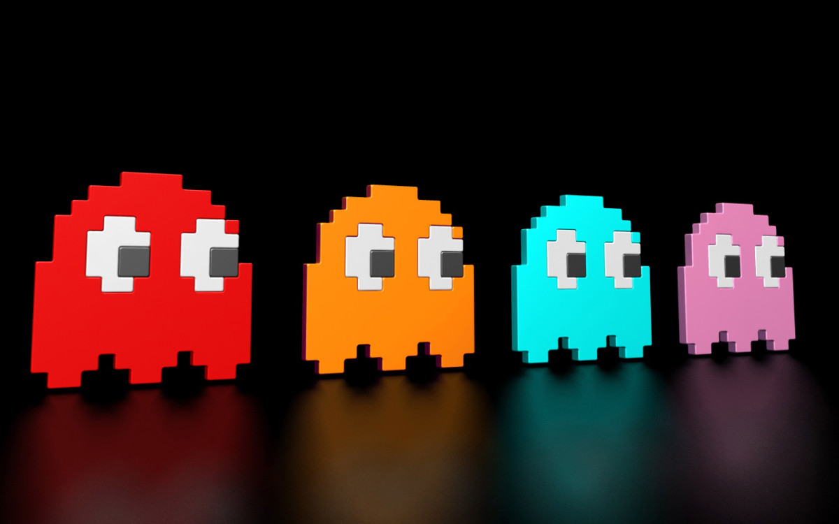 Blinky, Clyde, Inky, Pinky where to be avoided in Pacman