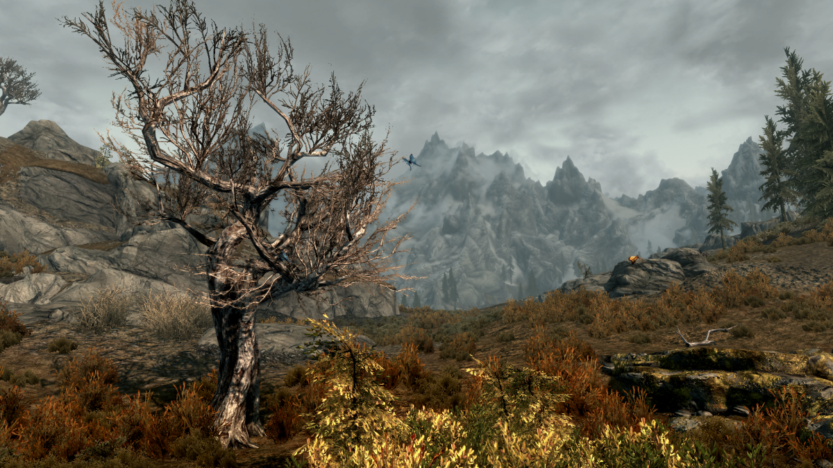 Skryim has a living, dynamic landscape, perfect for a quick vacation from real life.