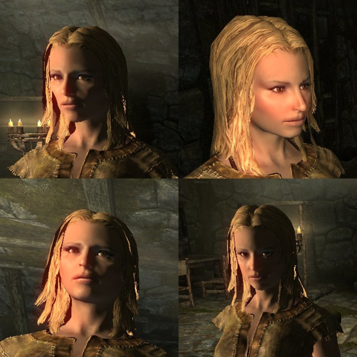Can you identify this celebrity? Probably not. It doesn't look anything like her. 'Skyrim' sliders can be used to achieve good results, but don't expect miracles.