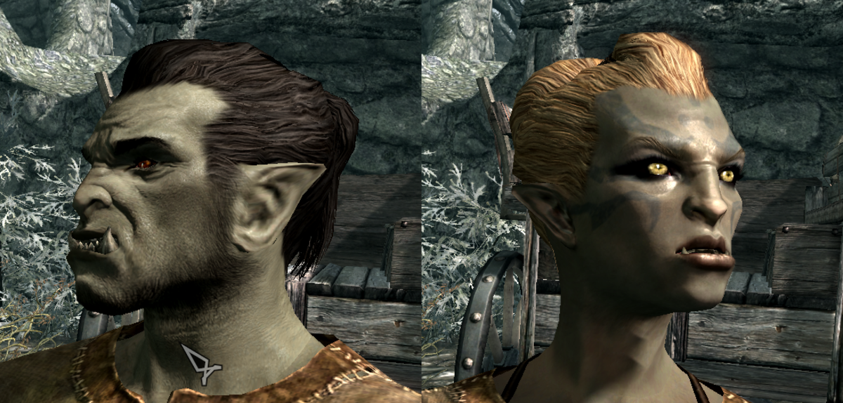 Orcs and Elves are best handled by minimizing the differences between their given features and human features.