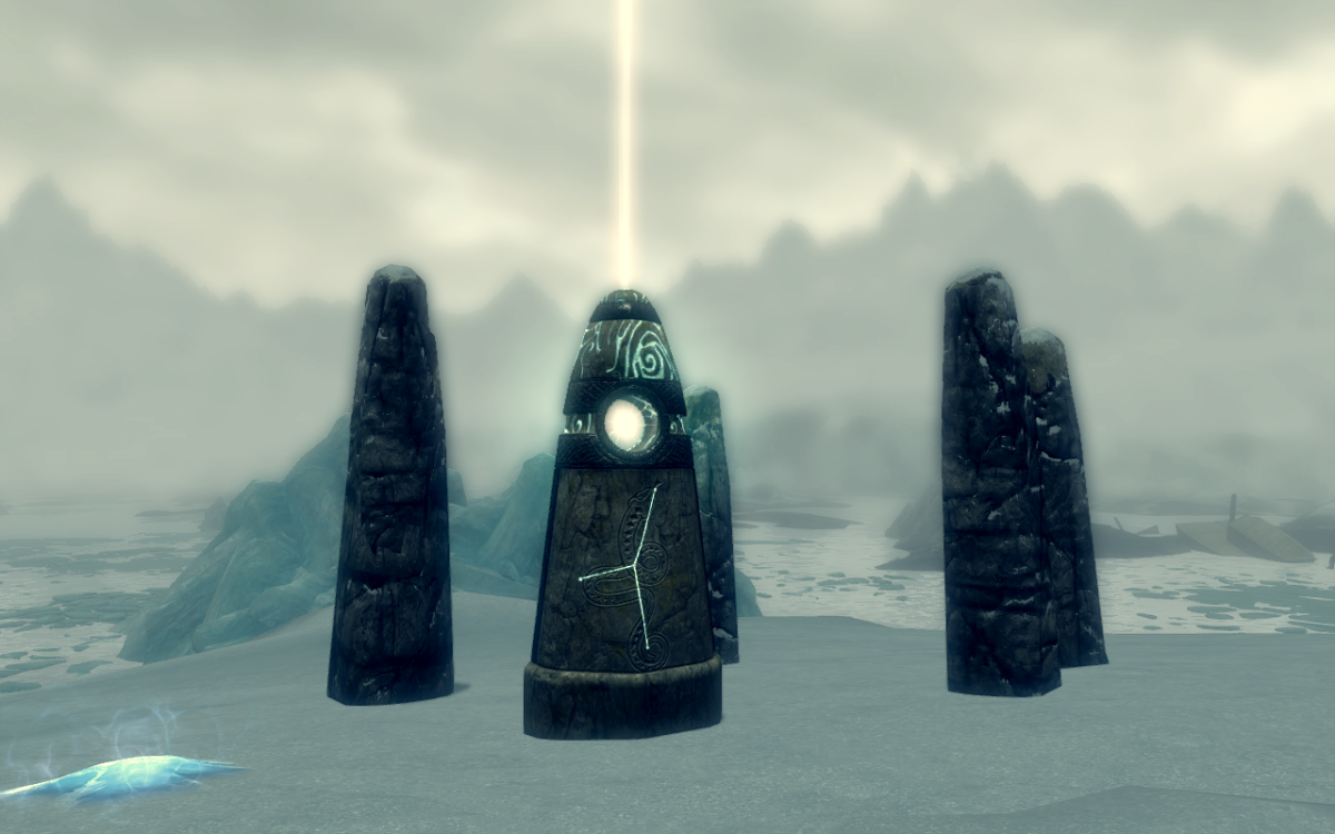 Activating the Serpent Stone to receive its blessing.