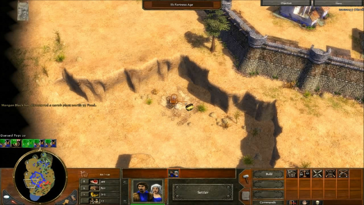 Collecting the treasures in the level Breakout in Age of Empires 3.
