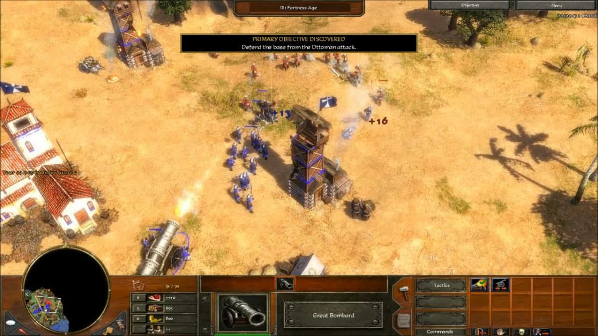 Defending the starting base.