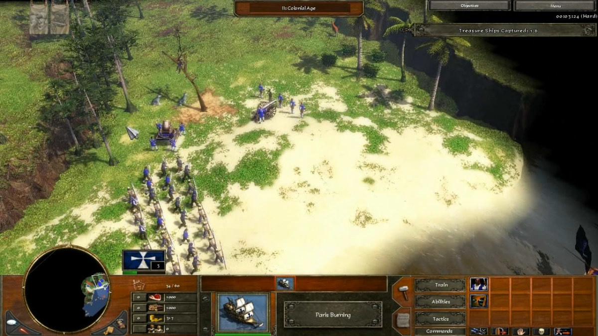 Rescuing the Native American scout in the Spanish Treasure Fleet level of Age of Empires 3.