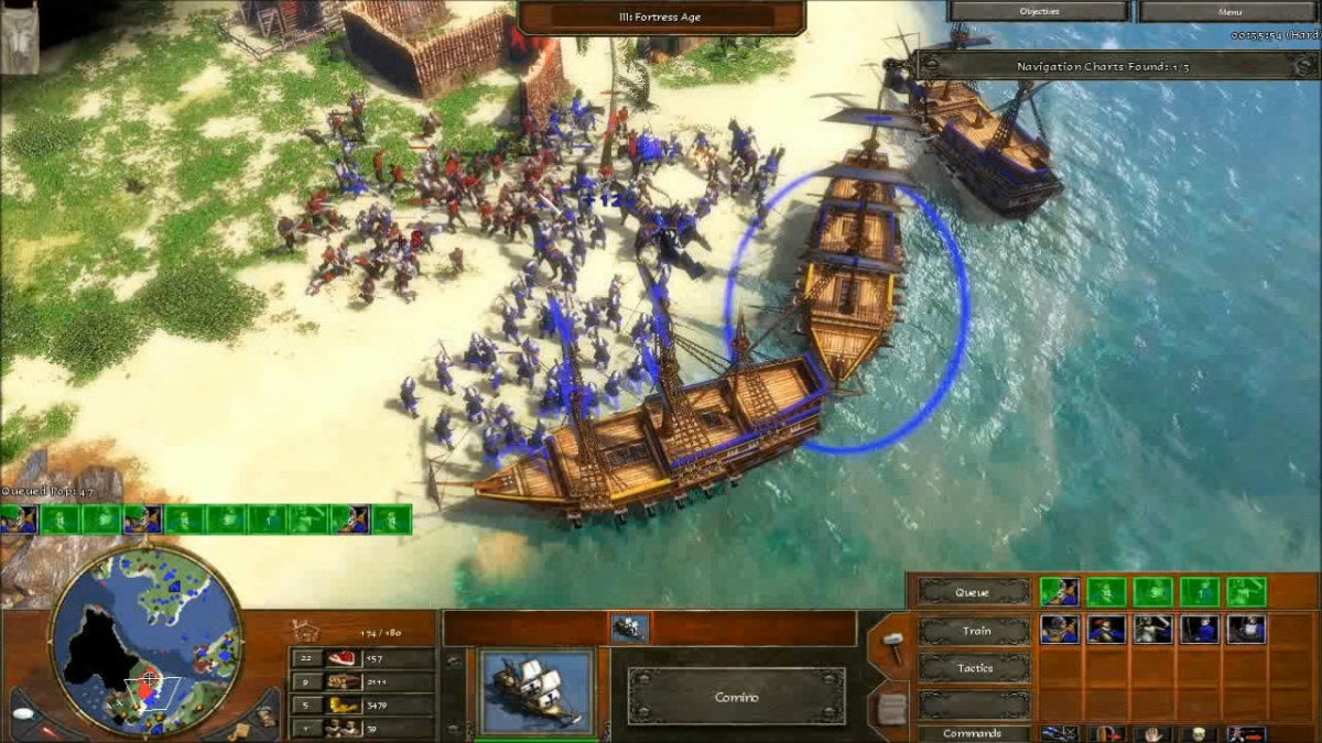 Drawing out the Pirate army while bombarding it with the boats.
