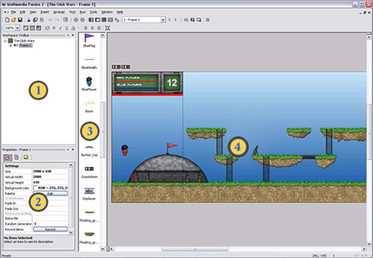 multimedia fusion 2 editor