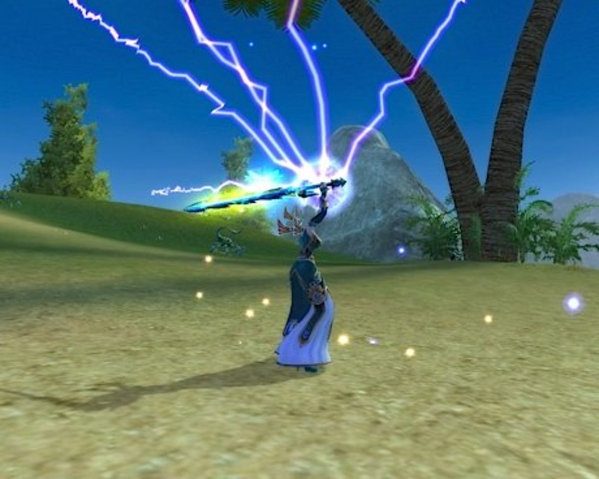 Wield Thunder is one of the more impressive looking skills out there.