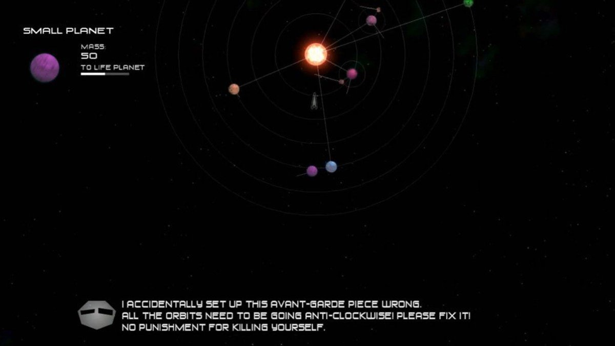Using the path key to match speeds and change the orbits of planets in Fine Art level 2.