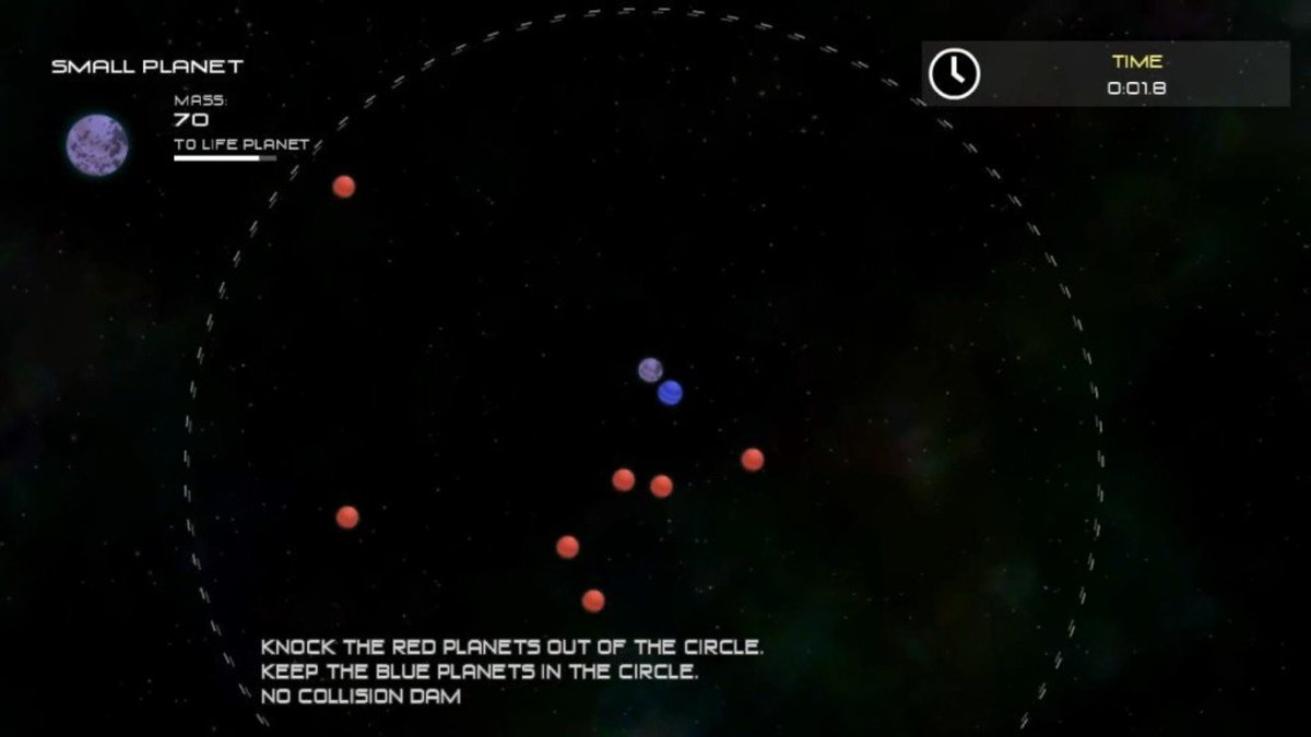 Slamming the initial group to get rid of most of the red planets.