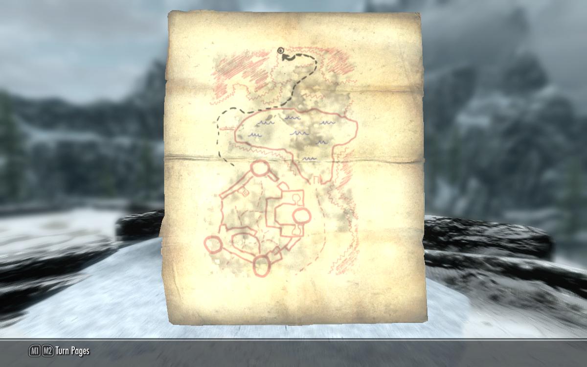 The Fort Neugrad Treasure Map.