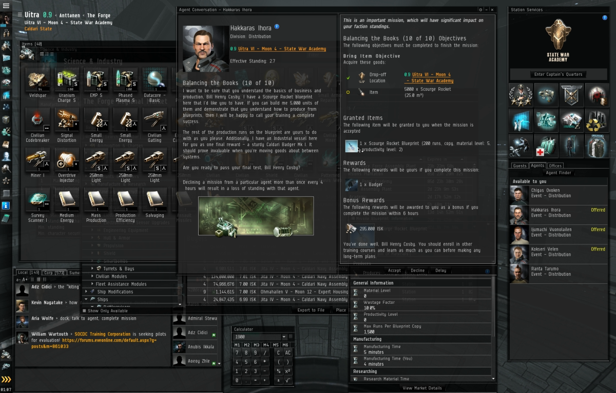 Balancing the Books (10 of 10) - Eve Online Mission Guide